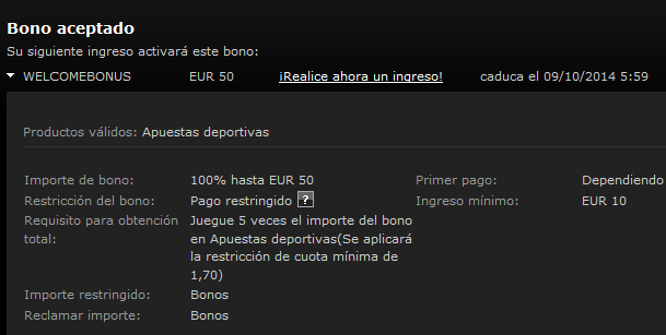 codigo de bono promocional de bwin 2014