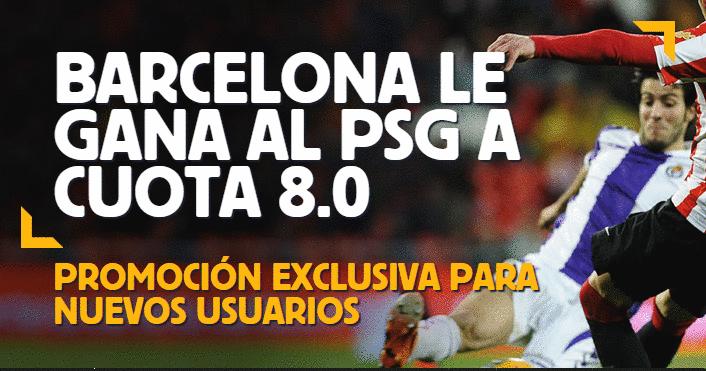 super cuota en apuestas psg vs barcelona hoy 30 septiembre 2014