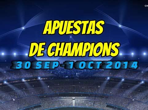 pronosticos de la champions league 30 septiembre y 1 octubre 2014