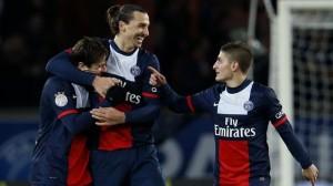 zlatan ibrahimovic celebrando un gol con el Paris Saint Germain