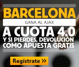 apuesta por el barcelona vs ajax con supercuota de betfair 4.0 sólo aquí!