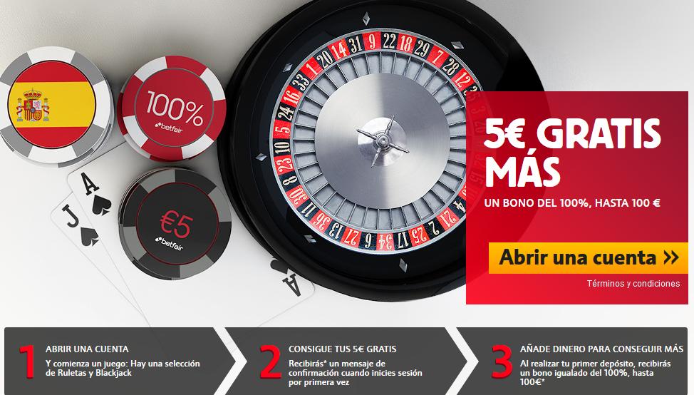 bono sin deposito 5 euros gratis casino betfair