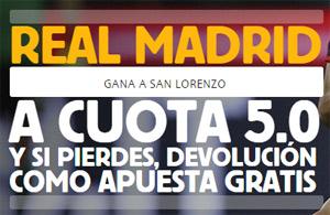 Apuesta por el Real Madrid a Cuota 5.0 con Betfair (Sólo nuevos clientes).