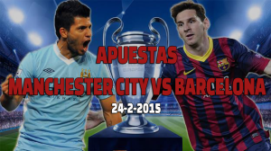 pronostico manchester city vs barcelona 24 febrero 2015