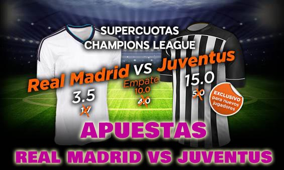 Apuestas Real Madrid vs Juventus semifinal Champions League 13 5 2015