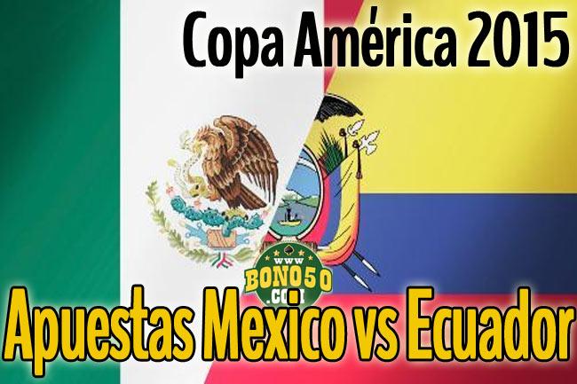 pronostico apuestas mexico vs ecuador 19 junio 2015 copa américa