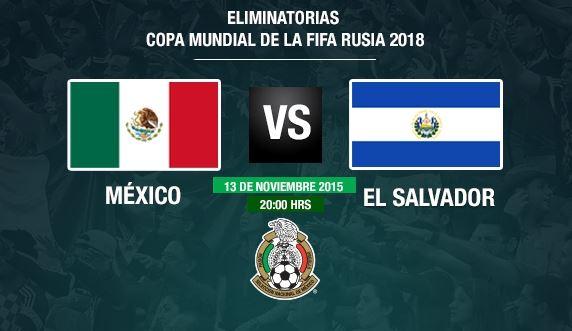 predicción de apuestas México vs El Salvador hoy 13 de noviembre 2015