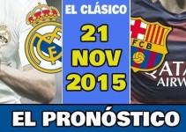Pronóstico Real Madrid vs FC Barcelona Sábado 21 Noviembre 2015