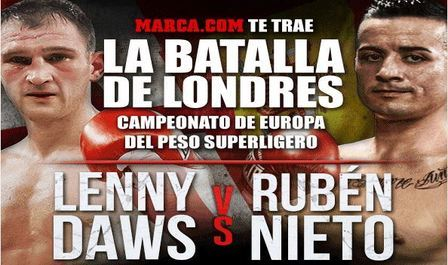 pronóstico boxeo rubén nieto vs lenny daws hoy 5 diciembre 2015