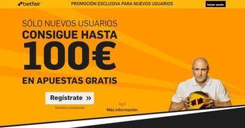 Recibe el bono bienvenida betfair por valor de hasta 100€ para nuevos clientes en España
