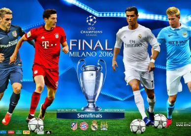 apuestas de las semifinales de la Liga de Campeones de la UEFA abril y mayo 2016