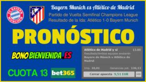 pronostico bayern munich vs atlético de madrid hoy martes 3 de mayo del 2016 en partido de vuelta de semifinales champions league