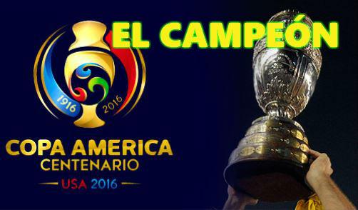 Apuestas Campeón de la Copa América Centenario 2016