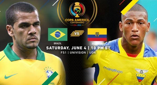 predicción copa america brasil vs ecuador 4 junio 2016