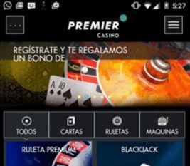 La aplicación de casino online premiercasino