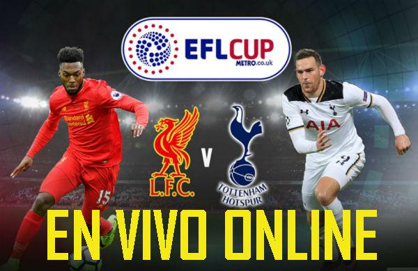 Donde ver el partido Liverpool vs Tottenham en directo por internet 25 octubre del 2016